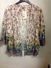 INDIGO COLLECTION  Floral Print 3/4 Sleeve Open Front Cardigan Size: 22