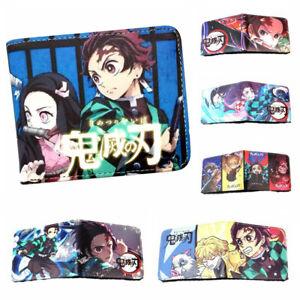Demon Slayer Kimetsu No Yaiba Wallet Bifold Purse Leather Card Holders Wallets