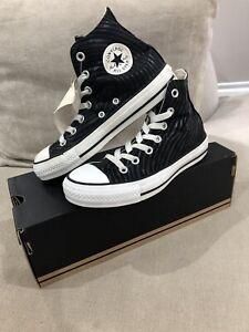 Womens CONVERSE Zebra Chuck Taylor All Star High Top Sneaker US 5.5 [306]