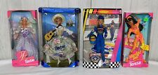 Mattel Barbie LOT OF 4 BARBIES - NIB - NASCAR, PRINCESS, WORKIN' OUT, MARIA