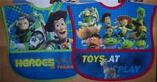 2 NEW TODDLER TOY STORY POCKET BIBS,  Baby Shower