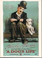 CHARLIE CHAPLIN A DOG'S LIFE 1918 MOVIE POSTER PROMO CARD #9 (WTE 1991)