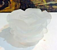 Rose Petal Floral Glass Shade Statue Chandelers Lamp Satin Chrystal