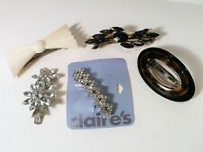 5 Vintage Hair Barrettes - Claire's, 2 Taiwan And 2 Unsigned - Reduced
