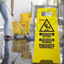 Caution Wet Floor Folding Safety Sign Slippery Warning Bright 2 Sided Jorestech