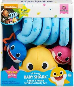 WowWee Pinkfong Baby Shark Official Shake and Rattle Stroller Activity Toy