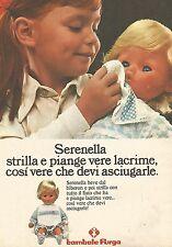 X0921 Serenella - Bambole Furga - Pubblicità del 1976 - Vintage advertising