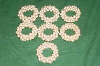 7 antique Napkin rings Cutlery Pearl Beads Napkin ring Jewellery Bead wreath