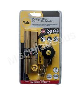 Yale Platinum 3 Star Euro Profile Cylinder 40/10/45 (95mm) P-YS3-4550B