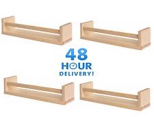 4 x IN LEGNO IKEA BEKVAM RAJTAN Barattolo per spezie Stand Rack Cucina Ripiano Scaffali Di Stoccaggio