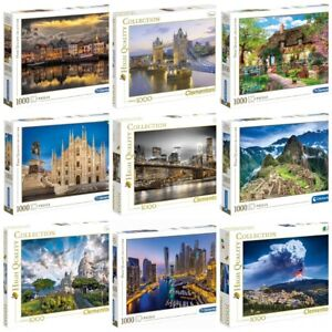 Clementoni Assortimento Puzzle 1000 Pezzi  High Quality Collection Adulti