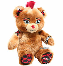 "Hot Topic Exclusive X Build-A-Bear Furry N' Fierce 8"" Plush Punk Teddy Bear NEW"