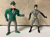 Batman: TAS The Riddler & Catwoman Figures McDonalds Happy Meal 1993 DC Comics