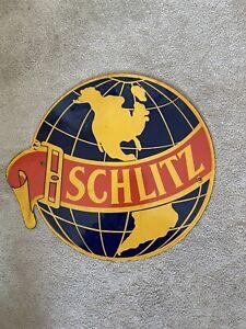 Porcelain Schlitz  Sign