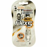 Flex 5 Razor Precision Stainless Blade Ultra Close Shave NanoTech 3 Pieces New