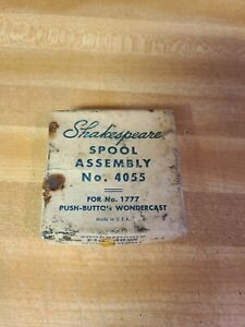 Vintage SHAKESPEARE SPOOL ASSEMBLY No.4055 for No. 1777 Push-Button Wondercast