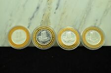LOT OF FOUR CASINO SILVER STRIKES TOKENS EL DORADO