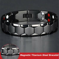 Terapia magnetica Bracciale terapeutico Braccialetto magnetico di Gauss Titanio