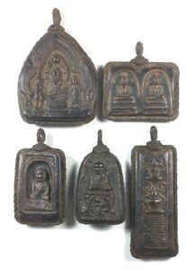 5 PCS THAI BUDDHA AMULET TALISMAN COLLECTIBLE