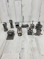 10 Vintage Diecast Metal Pencil Sharpener Locomotive Stove Coffee Grinder Clock