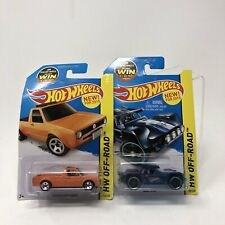Hot Wheels Lot of 2 Volkswagen Pick Up Truck Caddy 1 Orange 1 Bull Whip