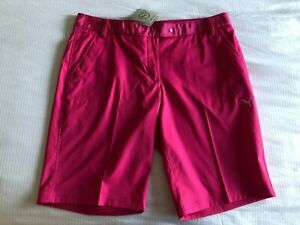 1 NWT PUMA WOMEN'S SHORTS, SIZE: 12, COLOR: PINK (J135)