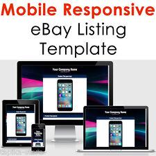 eBay Listing Template HTML Professional Mobile Responsive Design 2017 Universal
