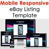 eBay Listing Template HTML Professional Mobile Responsive Design 2020 Universal