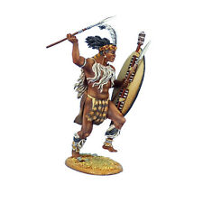 First Legion: ZUL025 iNgobamakhosi Zulu Warrior Charging with Spear and Shield