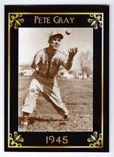 Pete Gray '45 St Louis Browns one armed outfielder MC Heritage serial #/50