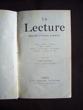 La lecture -  Magazine littéraire bi-mensuel - T.1