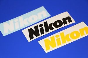 (PAIR) Nikon Logo Decal Vinyl Sticker Camera Camcorder Photography  DSLR Photo