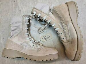 Belleville British Issue Leather Goretex Vibram Desert Combat Boots 8R UK #417