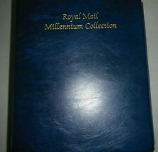 ROYAL MAIL MILLENNIUM COLLECTION HINGELESS STAMP ALBUM - 25 PAGES & SLIPCASE