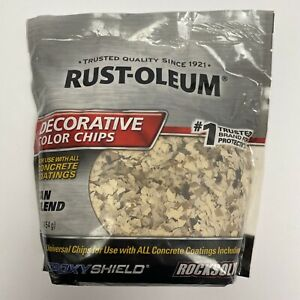 Rust-Oleum 301357 Epoxy Shield Decorative Tan Blend Color Chips Concrete Coating