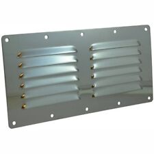230 x 115 Louvered Vent Mirror Finsh Marine Stainless Steel