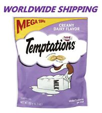 Temptations Treat for Cats Craemy Dairy Flavor 6.3 Oz WORLDWIDE SHIPPING