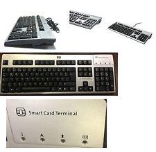 HP kus0133 FR clavier usb argent-noir cartes à puce lecteur carte à puce reader