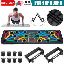 New listing 14 in1 Push Up Board Rack Bar Grip Handle Muscle Training Workout Fitness Stand