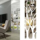 3D Tree Acrylic Mirror Wall Sticker Decal Mural Home Living Room Decoration DIY