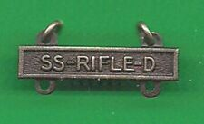Army Ss Rifle D Bar Badge Qualification D
