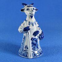 Mother Goat Figurine Gzhel Porcelain Russia Handmade