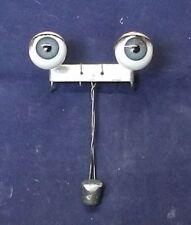 "antique doll sleepy/flirty eyes, glass, blue 2"" / 0.65"", Germany"