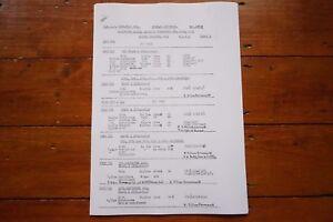 1953 Fascimilie Bath Green Park Passenger & Freight Railway Engine Workings