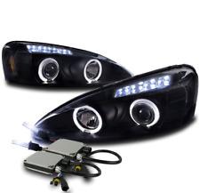 04-08 PONTIAC GRAND PRIX DUAL HALO LED PROJECTOR HEADLIGHT LAMP BLACK W/10K HID