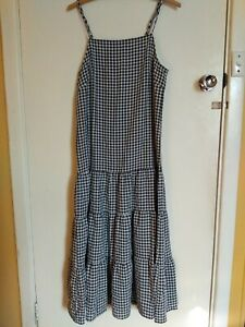 ValleyGirl Size 10 Tiered dress Gingham Check Black and white. Lowback. Summer.