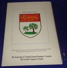 BR1748 Vtg Coat Of Arms For The 12 Canadian Provinces & Territories Dominion Ins