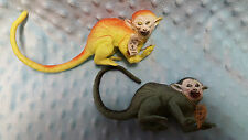 Rare 1960'S Imperial Wonder Zoo Squirrel Monkey Lot of 2 Green & Yellow with Tag