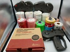 Large lot of Monarch 1130-01 Price Gun Labeler and labels read full description