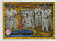 2012 Topps Gold Sparkle #109 Mariano Rivera Checklist Card New York Yankees